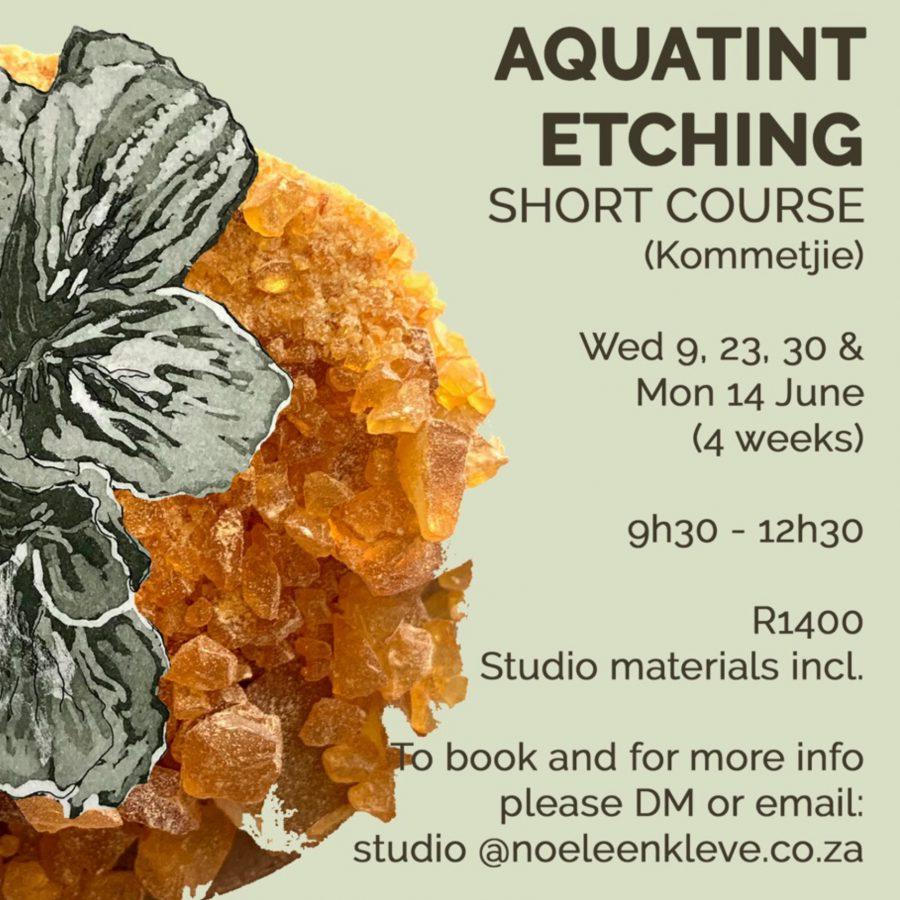 aquatint, etching, course